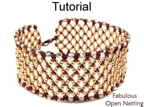 net stitch beading beading tutorial pattern bracelet netting stitch
