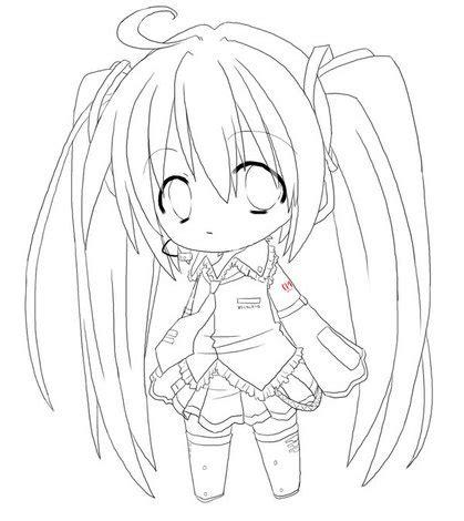 imagenes de hatsune miku kawaii para colorear anime para colorear miku imagui