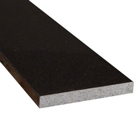 black granite 6x72x 75 polished double beveled thresholds