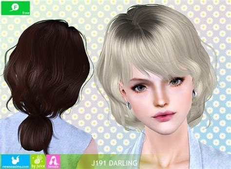 darling hairstyle pics j191 darling hairstyle by newsea sims 3 hairs