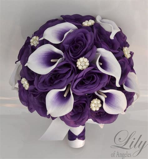 Bridal Bouquets Real Flowers by 17 Package Wedding Bridal Bouquet Silk Flowers