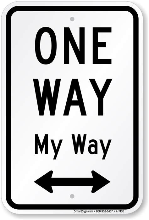 way way one way sign with bidirectional arrow online sku k 7430