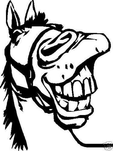 HORSE HEAD FUNNY CAR DECAL STICKER | eBay