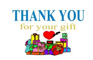 thank you for your gift