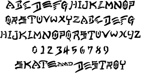 Thrasher Font None by Skate And Font By Honey Fontspace