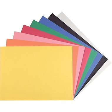 construction colors staples construction paper 9 quot x 12 quot assorted colors 200