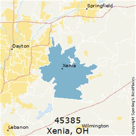 map of ohio xenia best places to live in xenia zip 45385 ohio