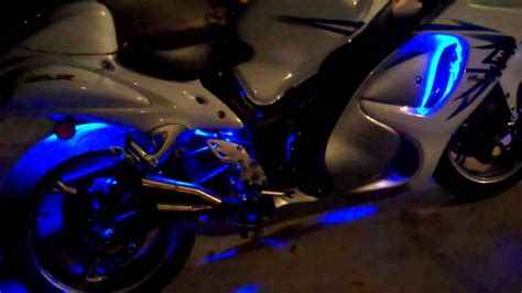 led ice cycle lights 6pc ice blue classic led motorcycle light kit review from