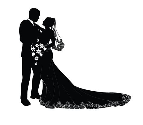 Wedding Ceremony Clipart by Ceremony Clipart And Groom Silhouette Pencil And