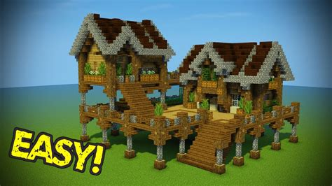 minecraft house tutorial minecraft starter base tutorial wooden minecraft house youtube