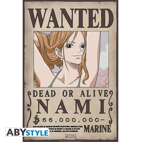 Membuat Poster Wanted One Piece | one piece poster wanted nami new 52x38cm abystyle
