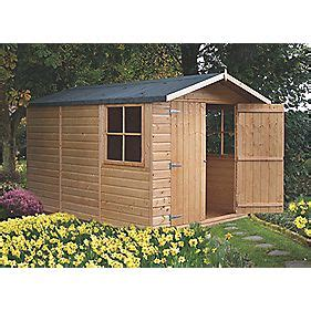 shire 10 x 7 nominal apex shiplap t g timber shed