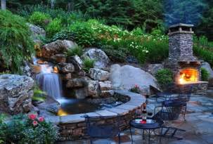 Small Garden Waterfall Ideas Backyard Pond Pictures
