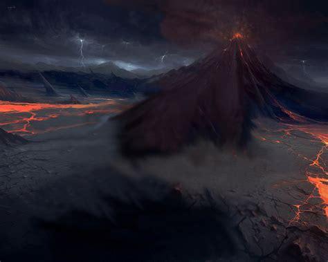 volcano wallpaper widescreen wallpapersafari