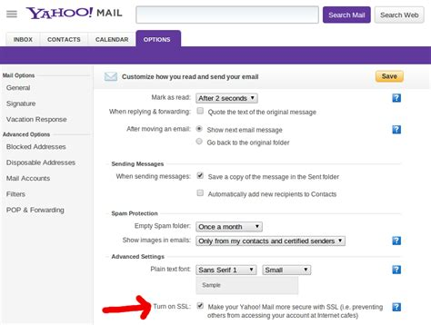 yahoo email options yahoo mail quietly offers https option