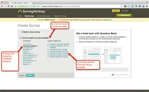Integrate Ambassador With Surveymonkey Net Promoter Score 174 Surveymonkey Nps Template