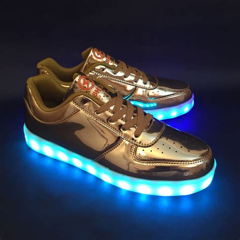 light up game shoes game changer low gold flashgear