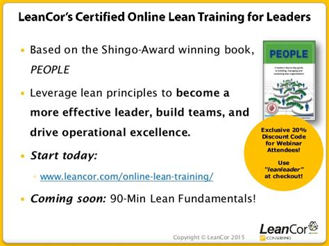 poised for excellence fundamental principles of effective leadership in the boardroom and beyond books leancor consulting webinar the pfep how to create