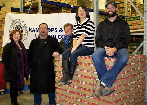 district libraries receive donation hobnob branson kamloops area food banks receive record donation labour