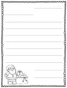 Blank Letter From Santa Template by Letter To Santa Blank Template Teaching