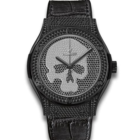 Shopping Kaviar Gauche Black Classic Fusion Bag by Hublot Classic Fusion Pave