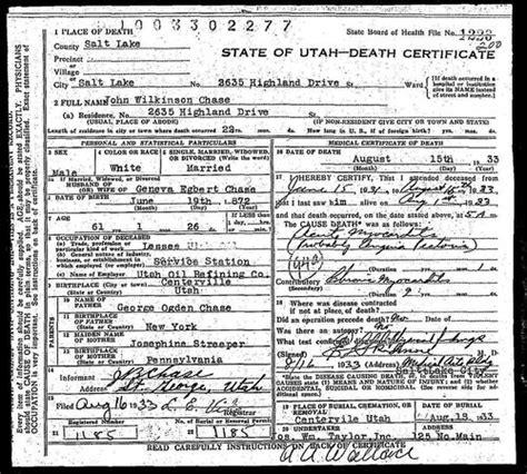 Utah Birth Records Index Utah Vital Records Genealogy Familysearch Wiki