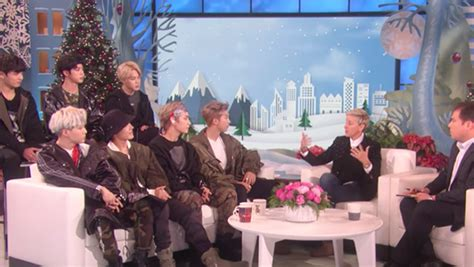 bts in ellen show bts photos of the k pop band hollywood life