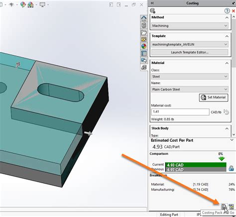 Solidworks Costing Pack And Go To Include Template And Report Solidworks Costing Template
