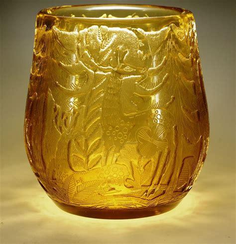 Moser Vase by Moser Signed Heinrich Hussmann Cameo Glass Vase