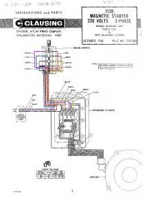 7130 magnetic starter wiring diagram color jpg of clausing gt clausing lathe and mill