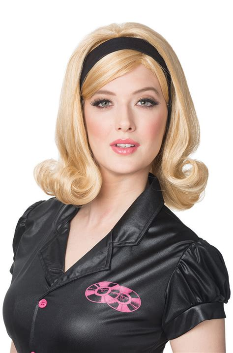 hair styles with flips for women 60 s flip wig purecostumes com
