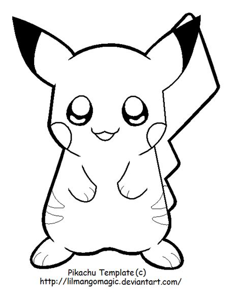 pikachu template boy template images images