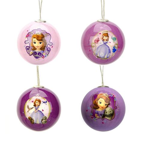 sofia the first set of four mini holiday ball christmas