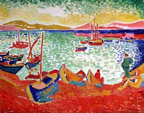 andre derain boats in the port of collioure boats in the port of collioure andre derain