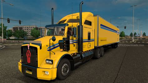 kenworth trailers penske skin pack for kenworth t800 v2 0 euro truck