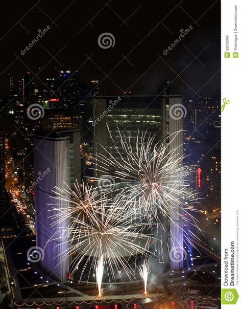 toronto new years fireworks toronto new years fireworks 2012 editorial stock image
