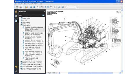 komatsu excavator pc200 6 series service repair manual