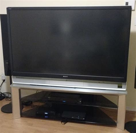 Sony Wega Tv 60 Inch L by Sony 60 Quot Grand Wega Sxrd 1080p Rear Projection Hdtv With Tv Stand Central Saanich