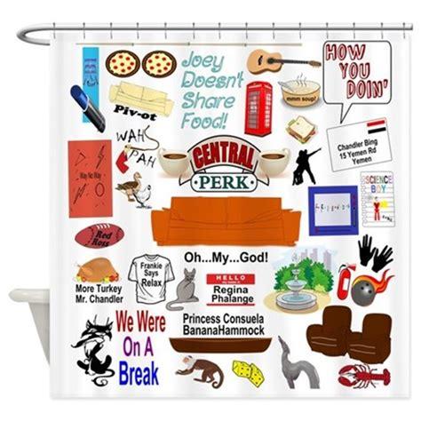 friends tv show collage shower curtain by friendstvfangear