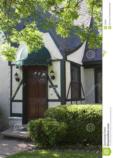 entryway  tudor style house  stock image image