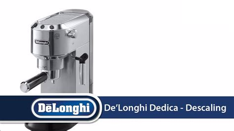 delonghi dedica ec   descale  machine doovi
