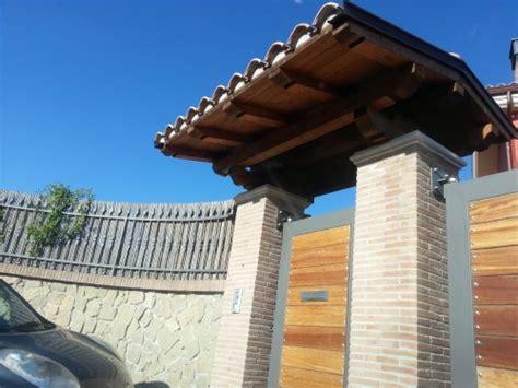 tettoia cancello tettoia sopra cancello san cesareo