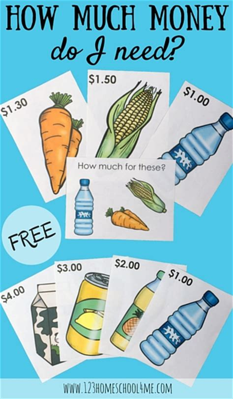 how much money can you make counting cards free grocery task cards money