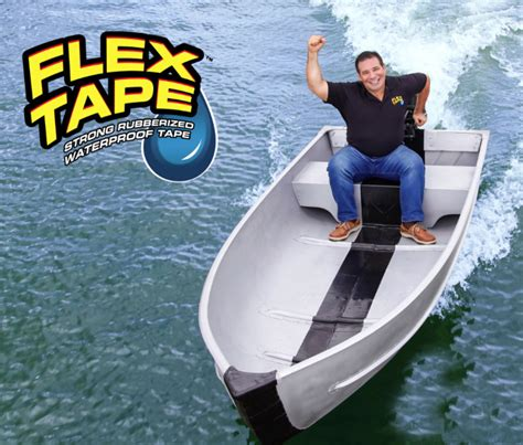 flex tape on boat i am holding it all together with flex tape the front