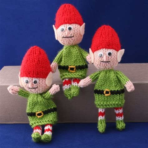 knitting pattern christmas elf posable santa christmas elves instant download pdf knitting