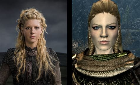 lagertha hair guide lagertha of the vikings face preset and follower at skyrim