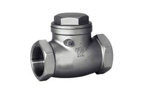 can a swing check valve be installed vertically stainless steel swing check valve female thread end