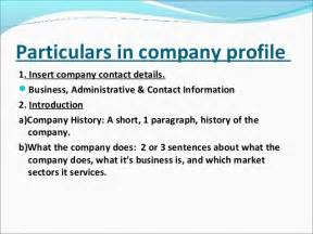 Information Technology Company Profile Template by Ppt Of Company Profile In Project