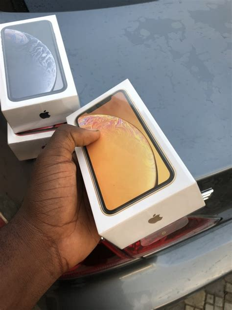 sold brand new gray yellow iphone xr for sale sold technology market nigeria