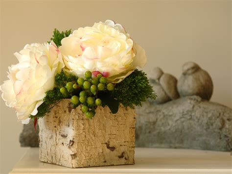 Square Vases Centerpieces by Birch Bark Wood Vases Square Wedding Flower Pot Planter